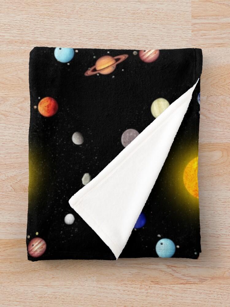 Alternate view of Space Pattern Throw Blanket