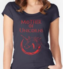 MK Mother of Unicorns (Red) Women's Fitted Scoop T-Shirt