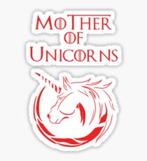 MK Mother of Unicorns (Red) Sticker