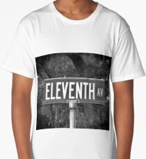Eleventh Av Street Sign Long T-Shirt