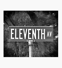 Eleventh Av Street Sign Photographic Print