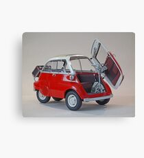 Red and White Bubble Canvas Print