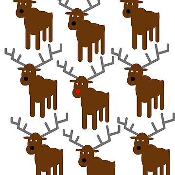 Santa's Reindeer by JohnLucke