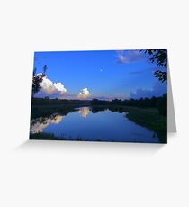 Edited view over across a pond Greeting Card