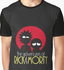 Rick and Morty Fan Apparel Graphic T-Shirt