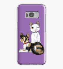 Cats - Tabby Patch & Tortie Samsung Galaxy Case/Skin