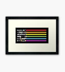 Lightsaber Rainbow Framed Print