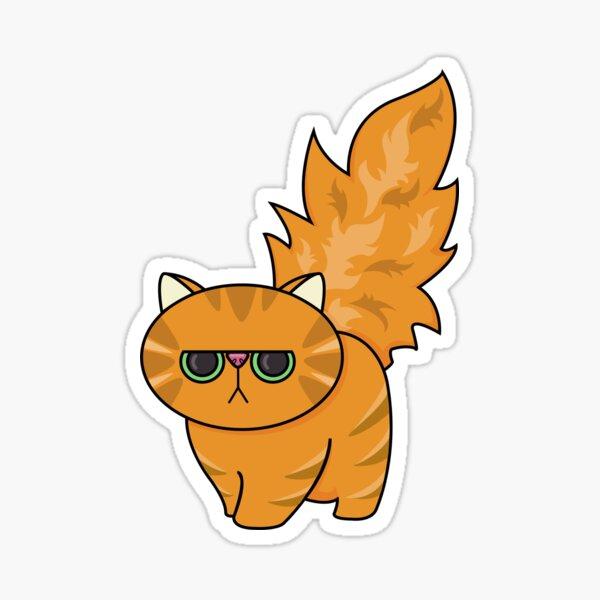 Grumpy Ginger is Not Impressed Sticker