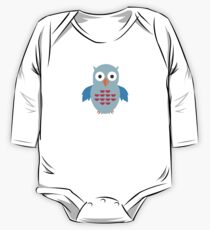 Blue & Red Owl (Pattern) Kids Clothes