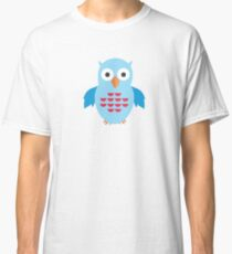 Blue & Red Owl (Pattern) Classic T-Shirt