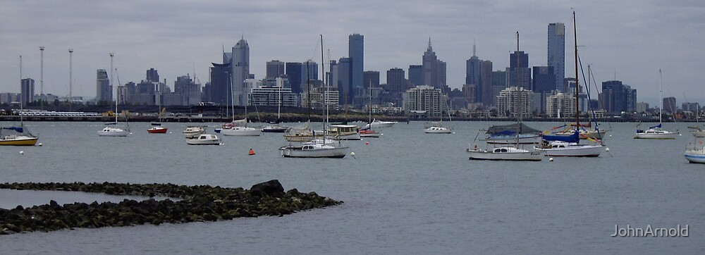 Melbourne Across The Water by JohnArnold