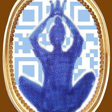 Good vibes yoga data matrix with pop art queen by veerapfaffli