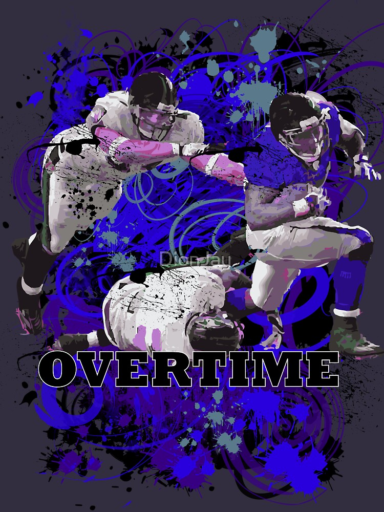 OVERTIME (RECIEVER) BLUE BLUE by DionJay