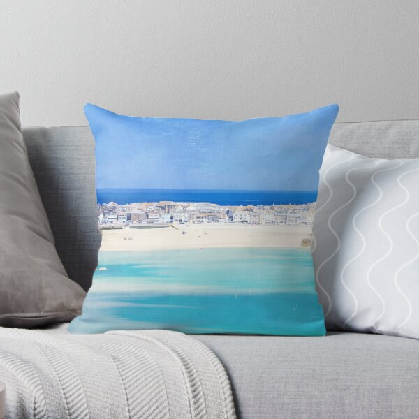 St Ives, Cornwall - Original, version 3 Throw Pillow