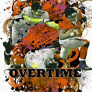 OVERTIME (QUARTERBACK) ORANGE by DionJay