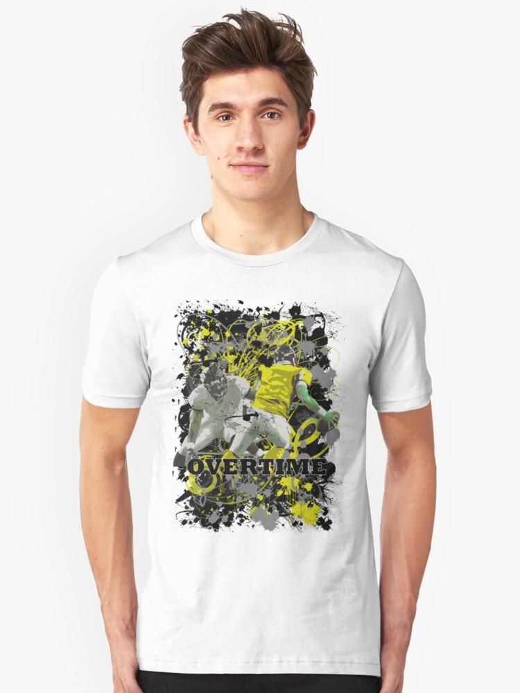 OVERTIME (QUARTERBACK) YELLOW Unisex T-Shirt Front