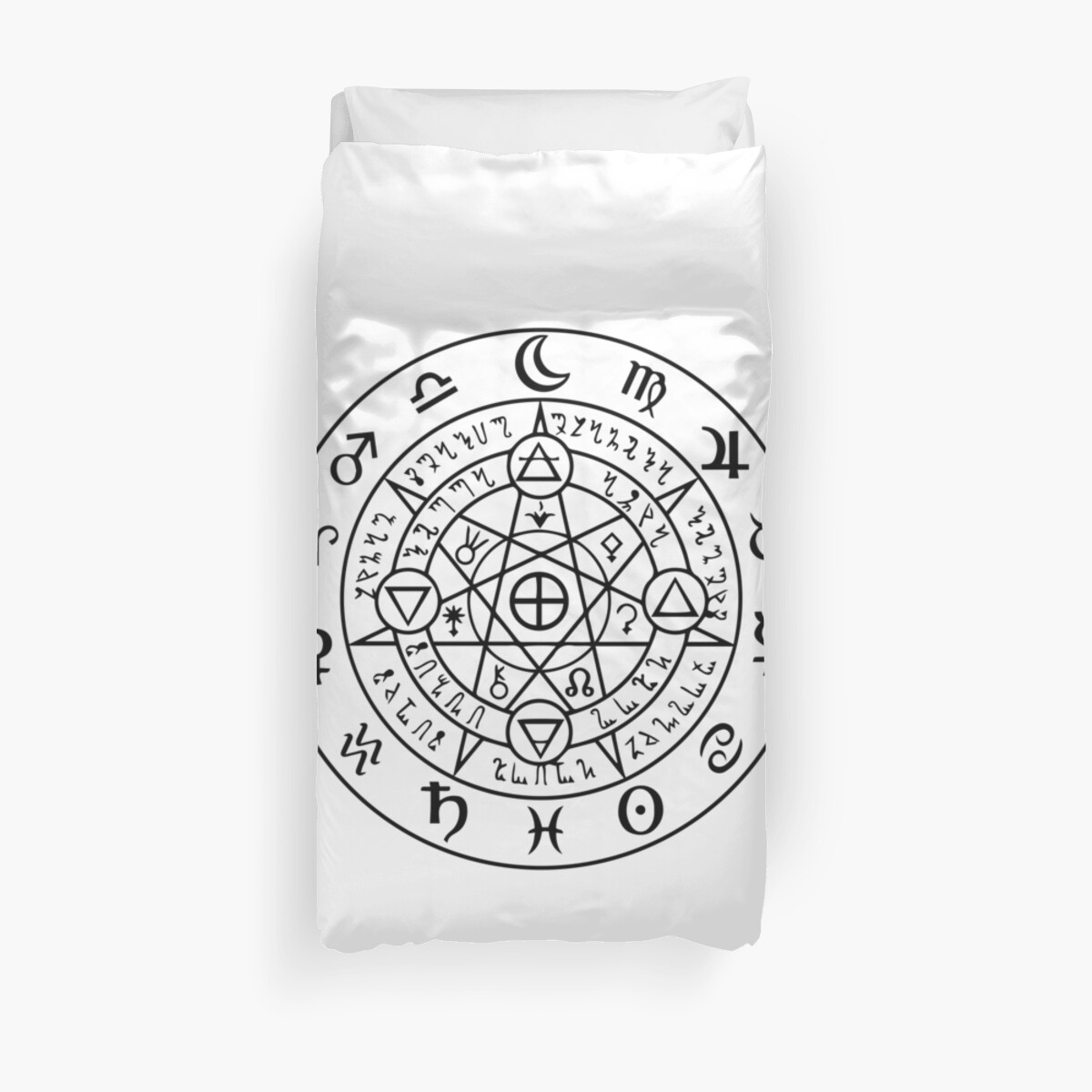 Wiccan Symbol Of Protection Duvet Covers By Handcraftline Redbubble