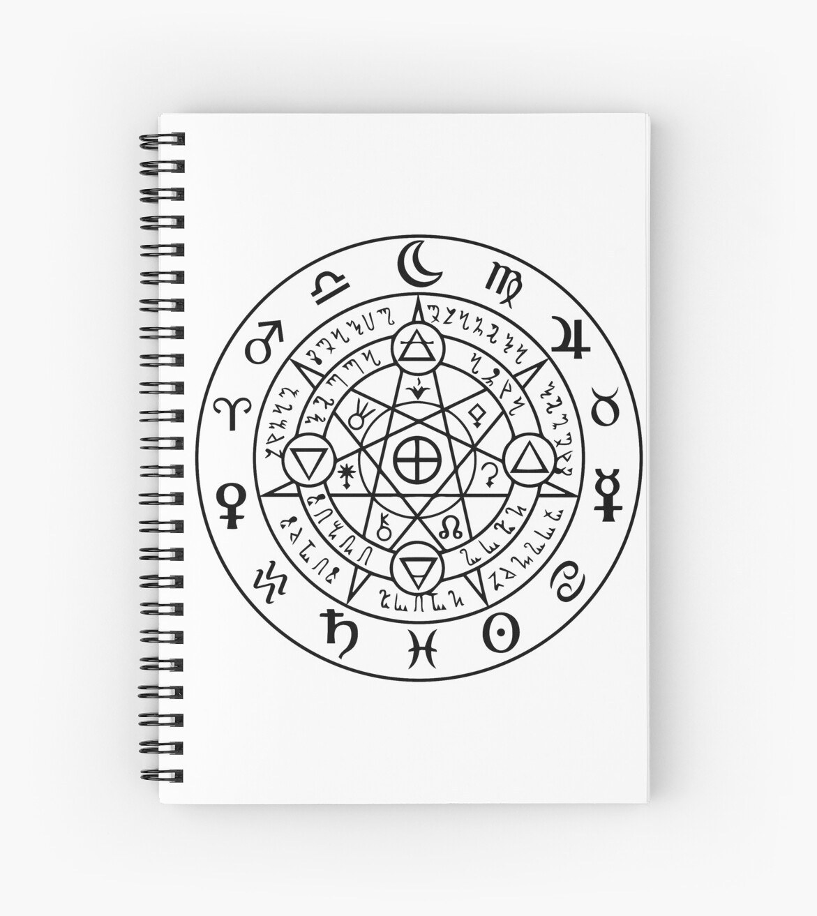 Wiccan Symbol Of Protection Spiral Notebooks By Handcraftline