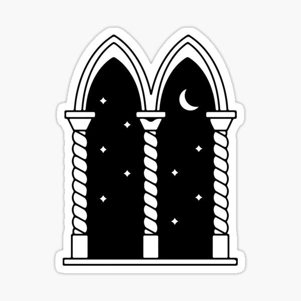 Dark medieval night Pegatina