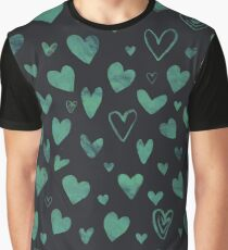 Water colour heart pattern Graphic T-Shirt
