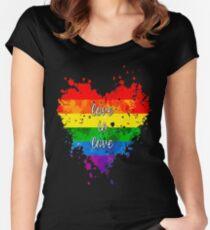 Camiseta entallada de cuello ancho El amor es el amor