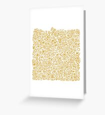 Gold abstract doodle Greeting Card