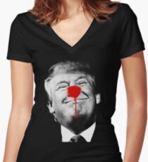 Donald Trump is a Clown Women's Fitted V-Neck T-Shirt