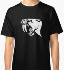 saber tooth cat stencil Classic T-Shirt