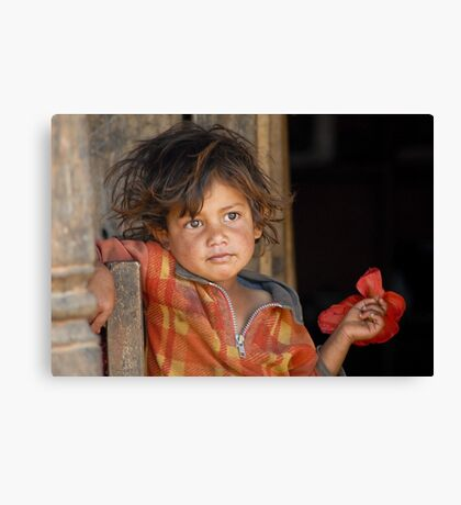 A young boy from Nepal  Canvas Print