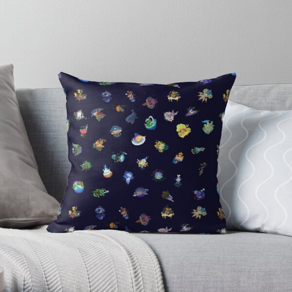 Kingdom Hearts Worlds Throw Pillow