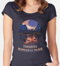 Yosemite National Park at Sunset Women's Fitted Scoop T-Shirt