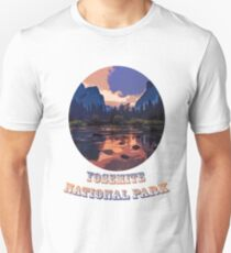 Yosemite National Park at Sunset Unisex T-Shirt