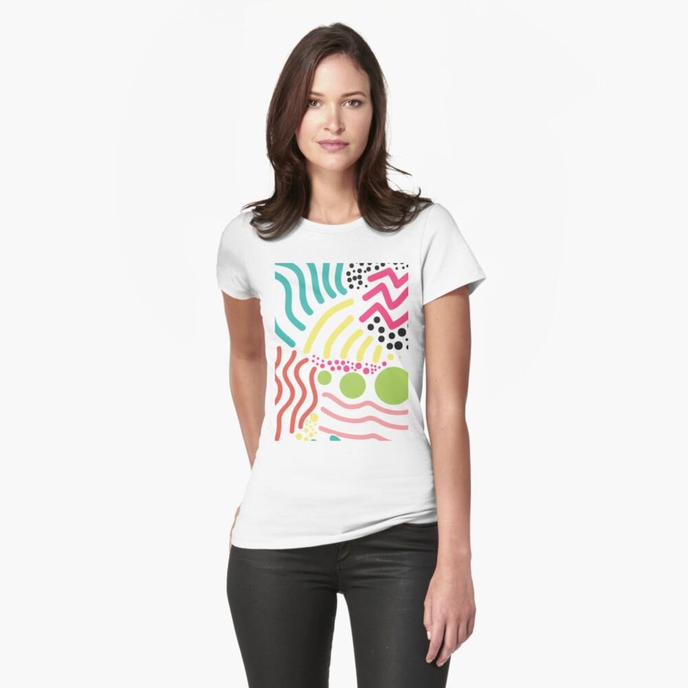 Bunter Aboriginaldruck! Tailliertes T-Shirt
