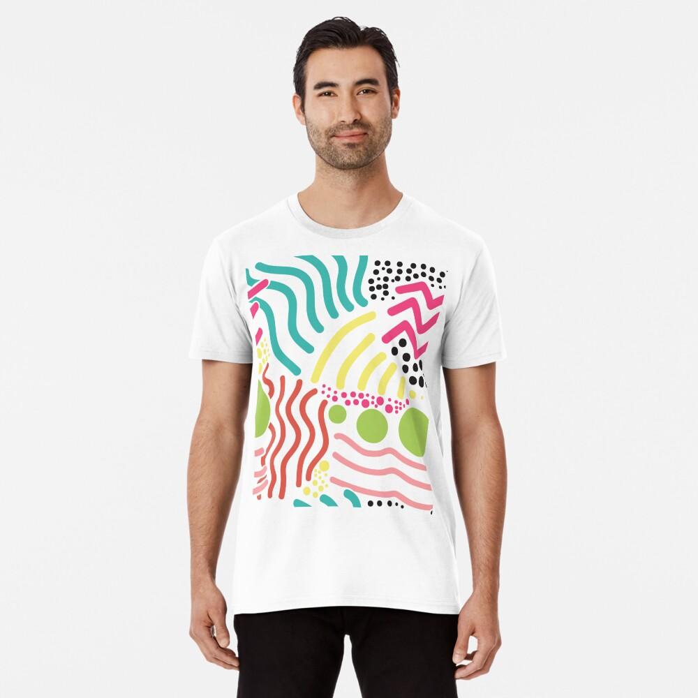 Bunter Aboriginaldruck! Premium T-Shirt