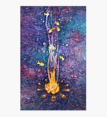 That magical night around the campfire Photographic Print
