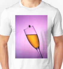 Fishing On A Cup Of Champange Unisex T-Shirt