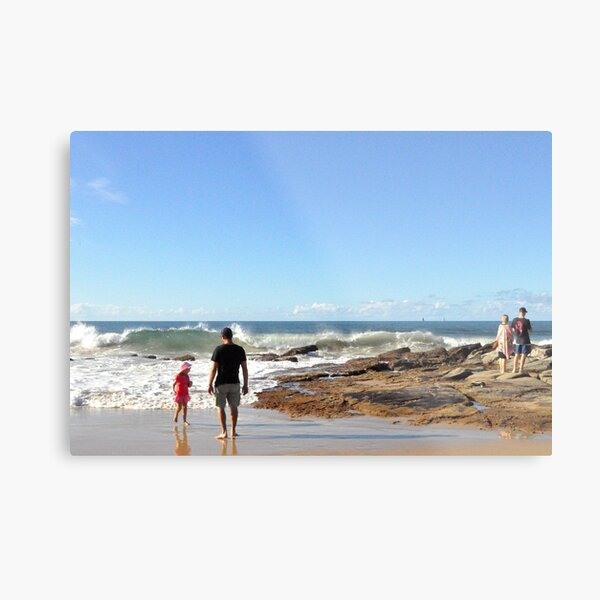 Taking dad for a walk Metal Print