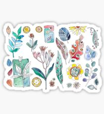 flowers and plants, Botanica watercolor Sticker