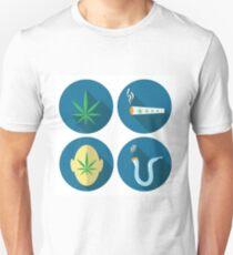 cannabis icons Unisex T-Shirt