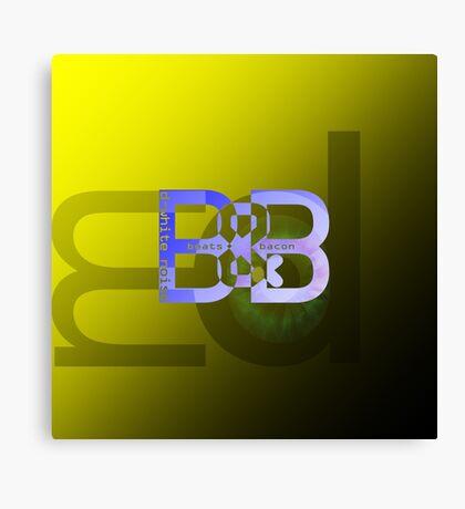 D- White Noise - 'Beats & Bacon' ep - Merch Canvas Print