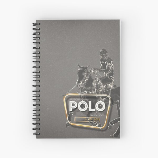 polo player gray gold Spiral Notebook