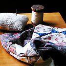 Thread, Pincushion and Cloth by Susan Savad
