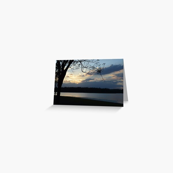 Sunset on Kurwongba Greeting Card