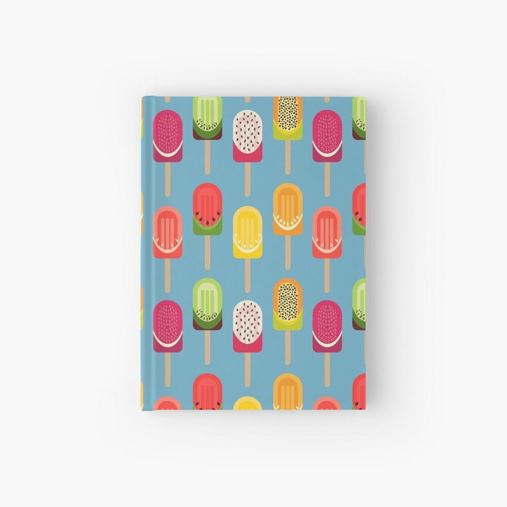 Fruit popsicles - blue version Hardcover Journal
