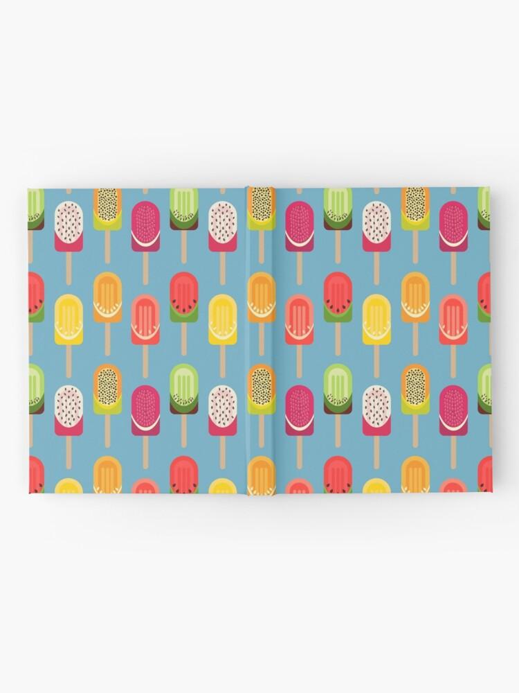 Alternate view of Fruit popsicles - blue version Hardcover Journal