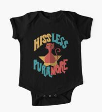 Hiss Less Purr More. Cat Lover. One Piece - Short Sleeve