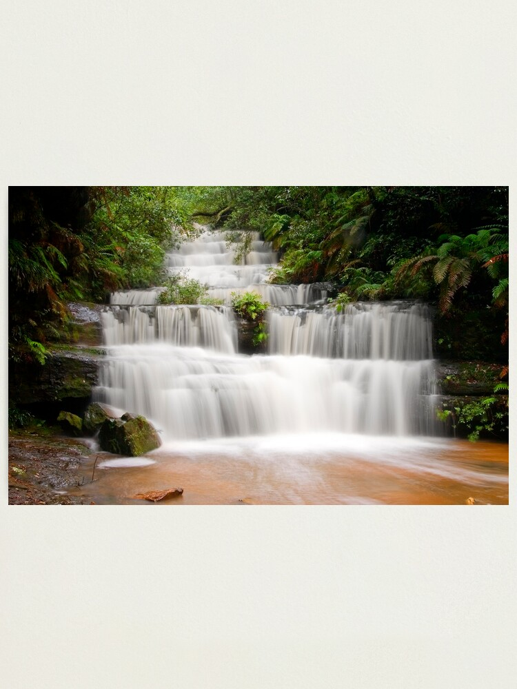 Alternate view of Terrace Falls, Hazelbrook NSW Photographic Print