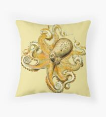 Underwater Sea Monster Octopus and Tentacles Throw Pillow
