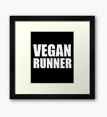 Vegan Runner Framed Print