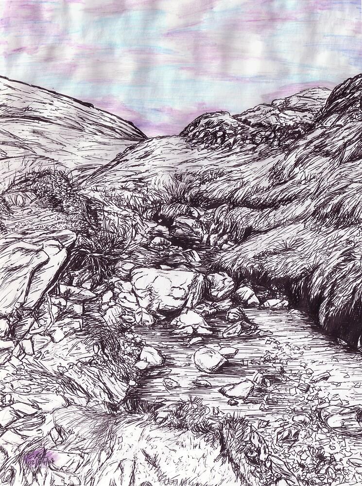 Reptilian stream by Charlotte Rose